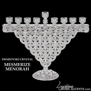 Image of Swarovski Crystal Menorah Mesmerize