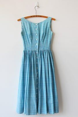 Image of Lanz Original Plaid Ricrac Dress