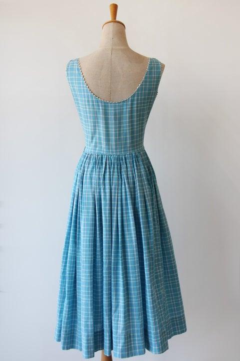 Image of Lanz Original Plaid Ricrac Dress