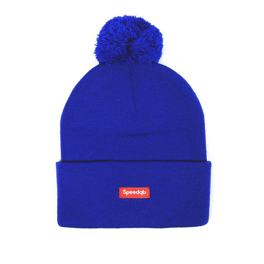 Image of SpeedQB Pom Beanie (Blue)