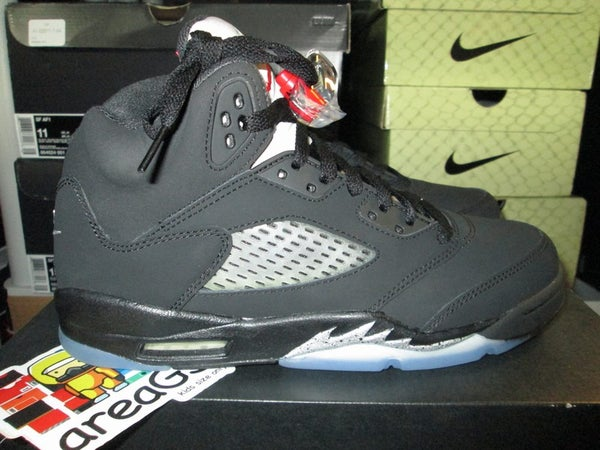 "Air Jordan V (5) Retro ""Black Metallic/Silver"" 2016 GS - areaGS - KIDS SIZE ONLY"