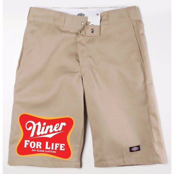 Image of Niner For Life Dickies Shorts (khaki)