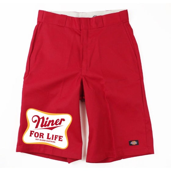 Image of Niner For Life Dickies Shorts (red)
