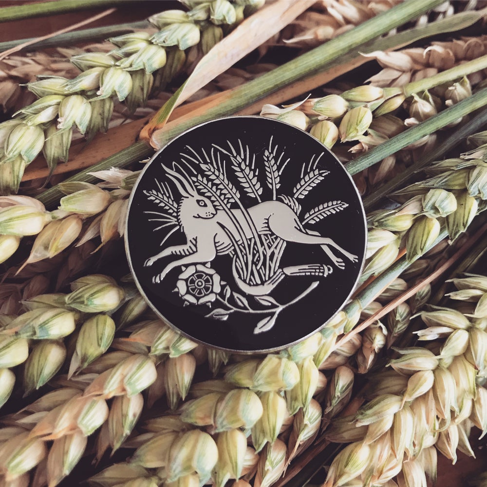 Image of 48 hour pre-order Hare in the wheat enamel pin