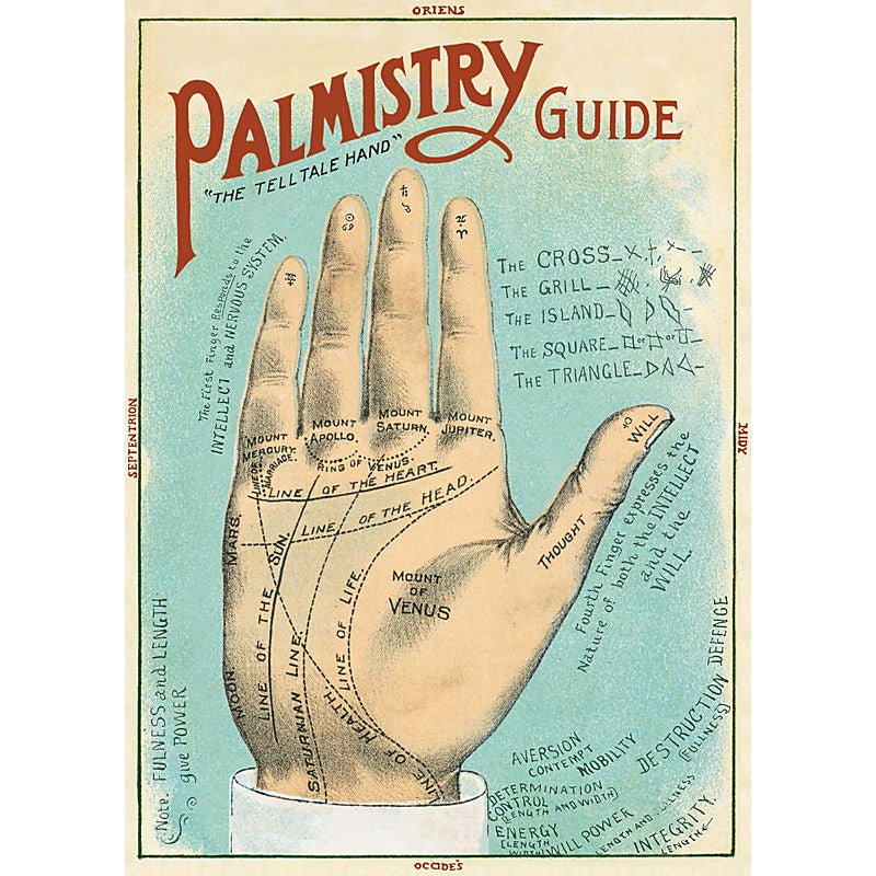 Image of Cavallini Palmistry Guide Wrapping Paper