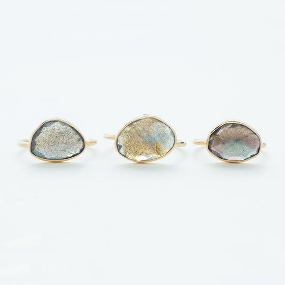 Image of WINNOW Labradorite Rose Cut Ring