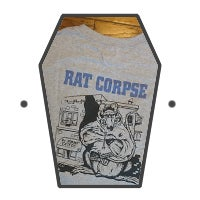 Image of Rat Biscuits T-Shirt, Grey Long Sleeve.