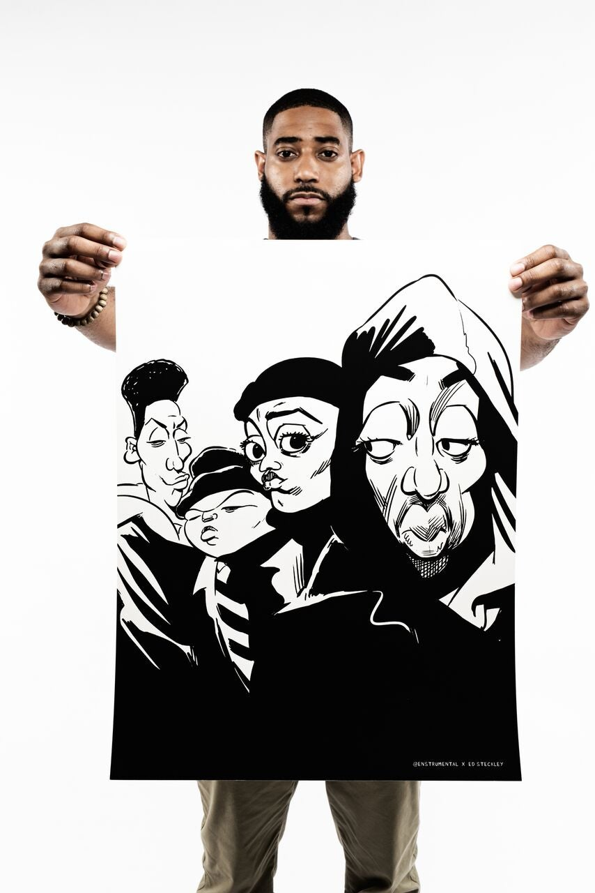 Image of THE JUICE PROJECT - (Juice Crew) - Black/White - PRINT