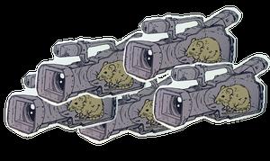 Image of SK8RATS Rat inside VX Sticker Pack 5