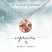 Image of Capricorn Constellation Necklace- 14kt Rose Gold Fill
