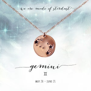 Image of Gemini Constellation Necklace- 14kt Rose Gold Fill