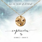 Image of Capricorn Constellation Necklace- 14kt Yellow Gold Fill
