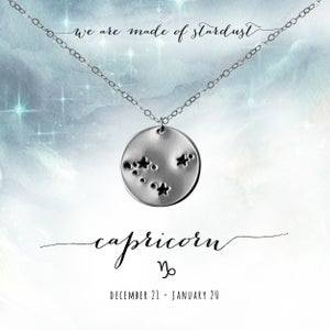 Image of Capricorn Constellation Necklace - Sterling Silver