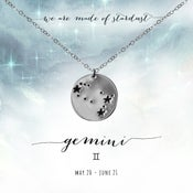 Image of Gemini Constellation Necklace - Sterling Silver
