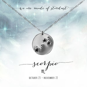Image of Scorpio Constellation Necklace - Sterling Silver