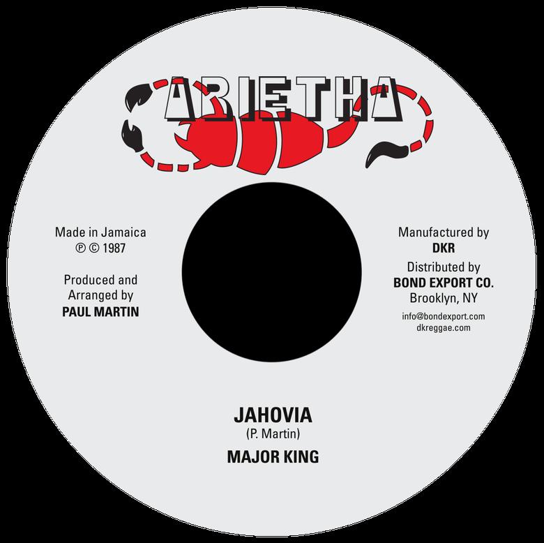 "Image of Major King - Jahovia 7"" (Arietha)"