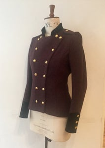 Image of Velvet and tweed fencing jacket