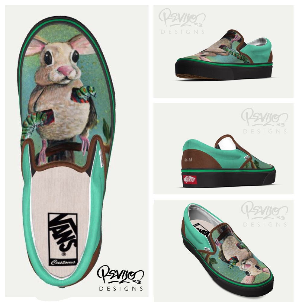 Image of Cotton Tailed Swallow VANS by Revilo33: CLASSIC SLIP-ON