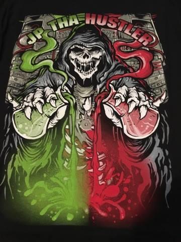 Image of JP THA HUSTLER - Skull Tall Tee