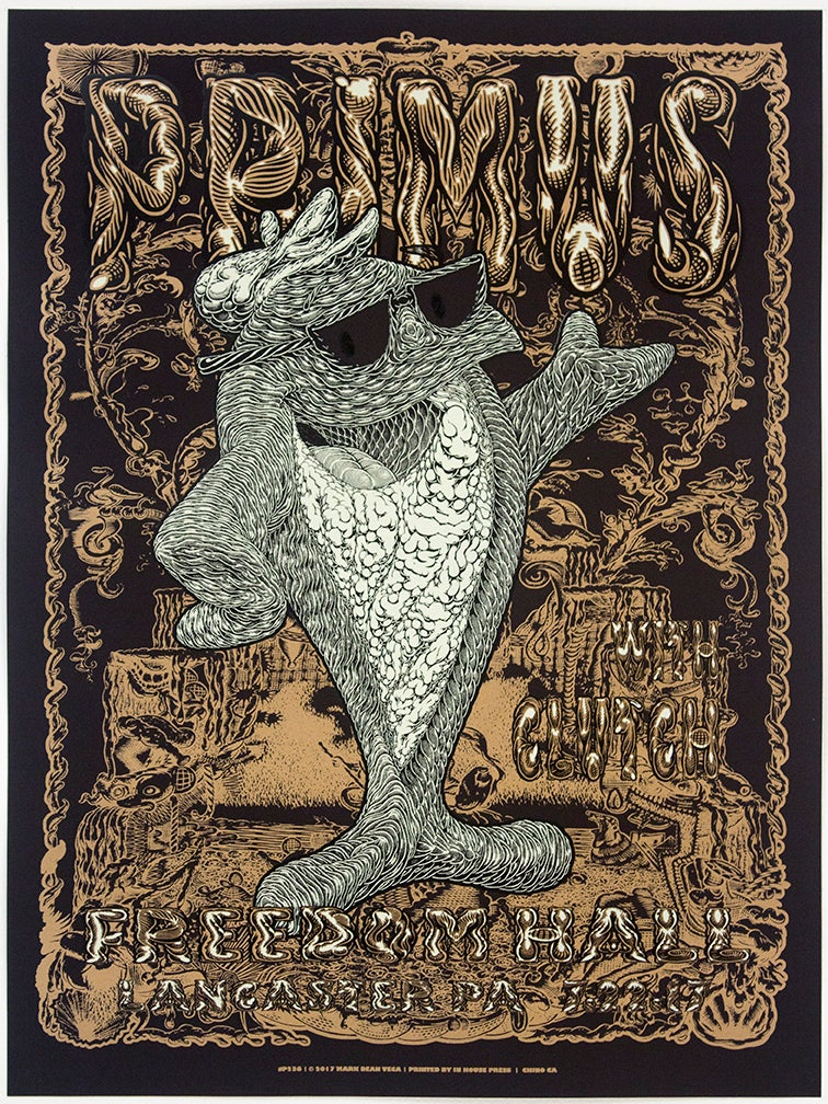 Image of Primus Tour Poster: Fish On, 2017 (Variant: Black)