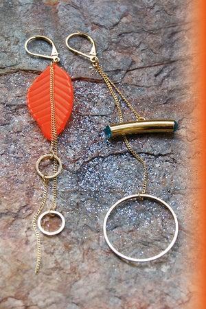 Image of Boucles d'oreilles<br>VEGETAL STRASS (plusieurs couleurs)