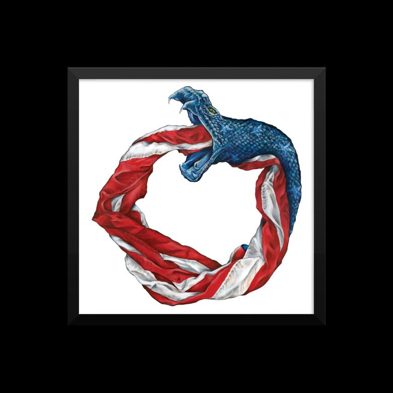 Image of Framed Ameroboros print