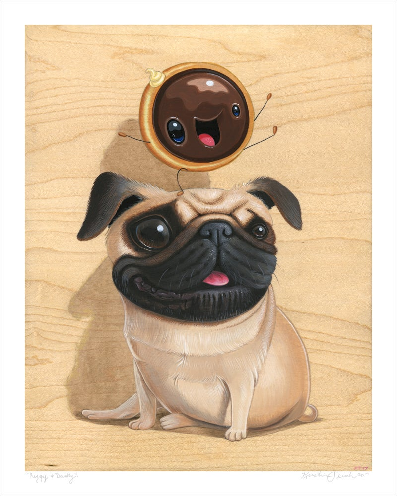 "Image of ""Puggy & Dunky"" giclee"