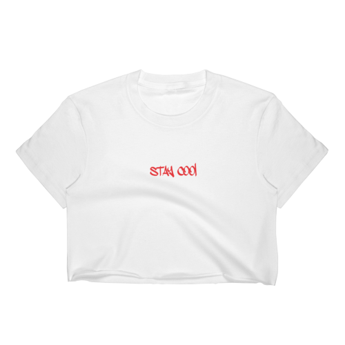 Image of Stay Cool Crop Top Logo Tee