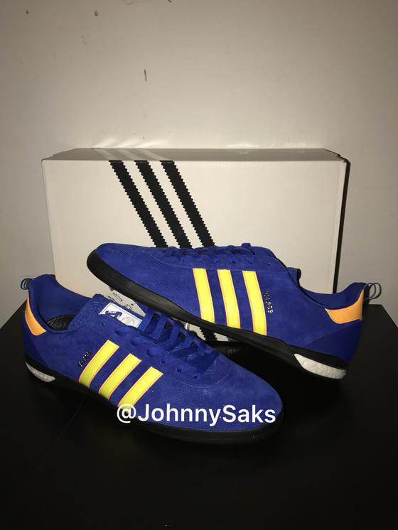 "Image of Adidas Indoor Palace ""Bold Blue/Solar Yellow"""