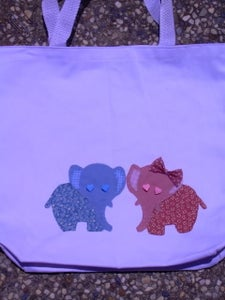 """Image of """"Elephant Love"""" Tote"""