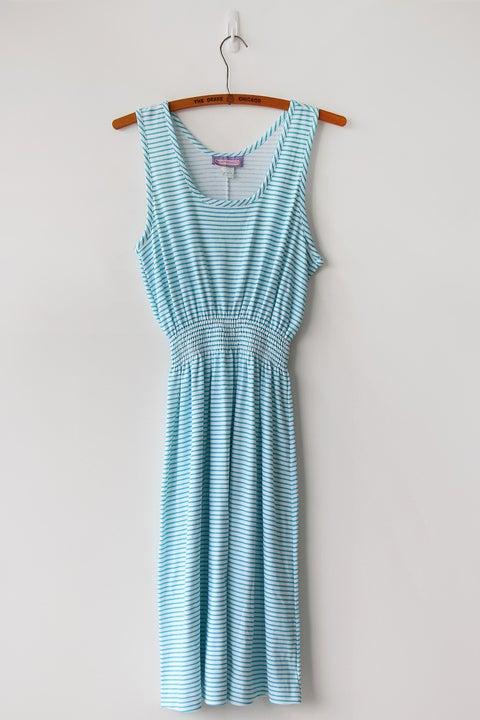 Image of SOLD Slouchy 80s Aquamarine Tank Dress