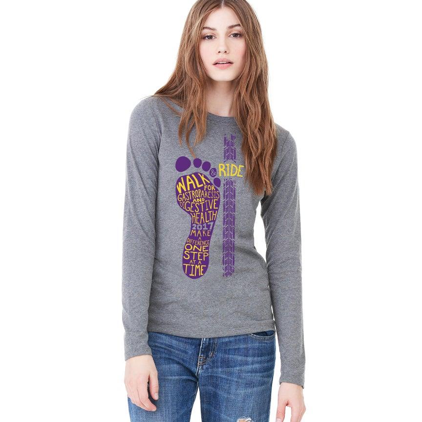 Image of Women's Jersey Long Sleeve Tee - Purple Logo