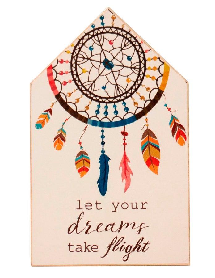 Image of Let Your Dreams Take Flight Wooden Block Plaque