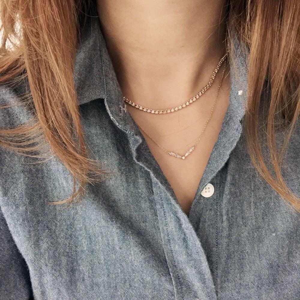 Image of Stardust Diamond Chocker Necklace