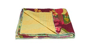 Image of 676685039491-1 KANTHA COTTON THROW 50' X 70'