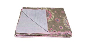 Image of 676685039521 KANTHA COTTON THROW 50' X 70'
