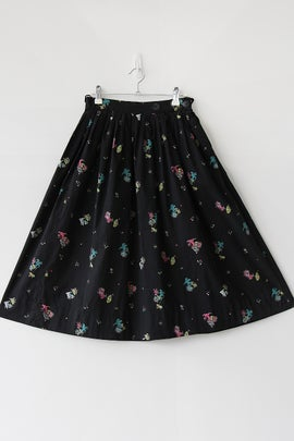 Image of Cats With Presents and Umbrellas Novelty Print Cotton Skirt