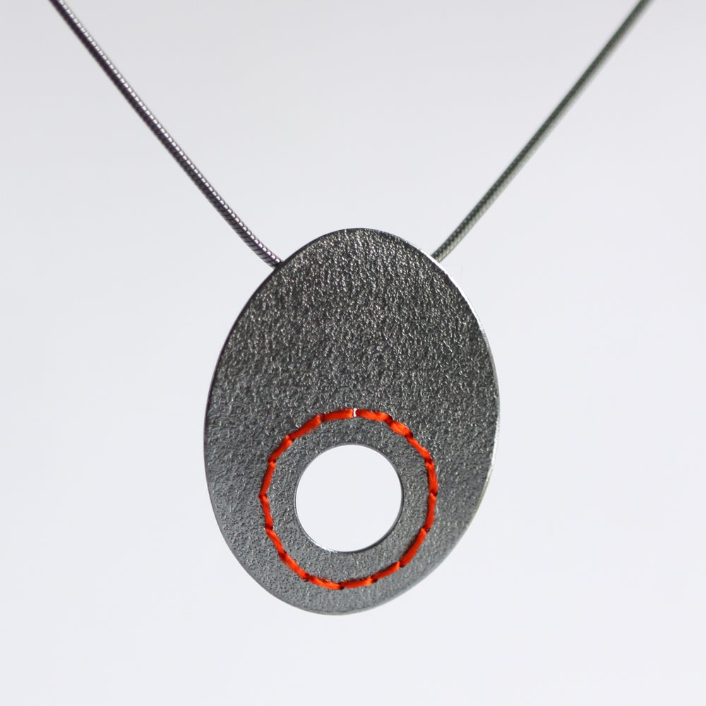 Image of Large Sewn Up necklace with circle