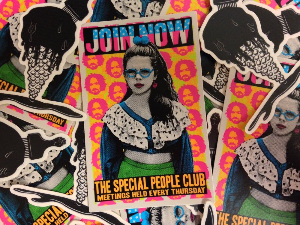 """Image of JOIN NOW """"The Special People Club"""" Sticker"""