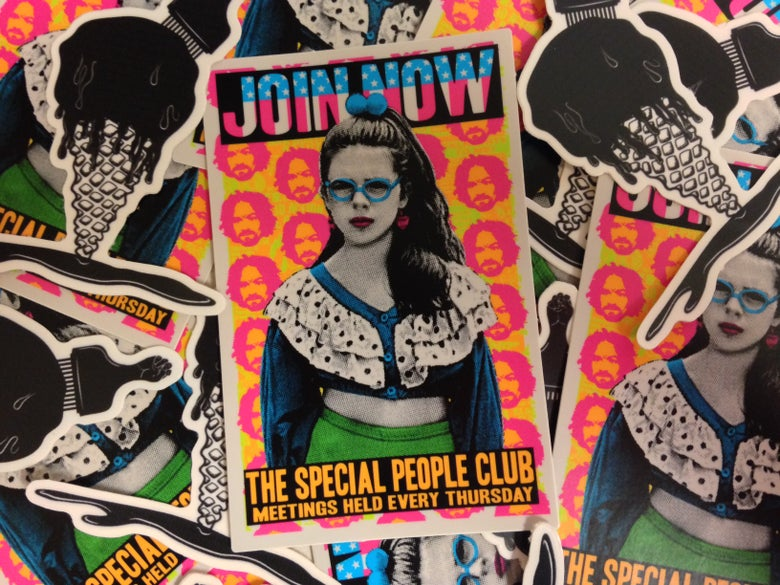 "Image of JOIN NOW ""The Special People Club"" Sticker"
