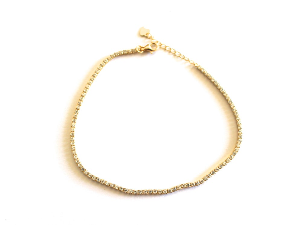 Image of diamond anklet