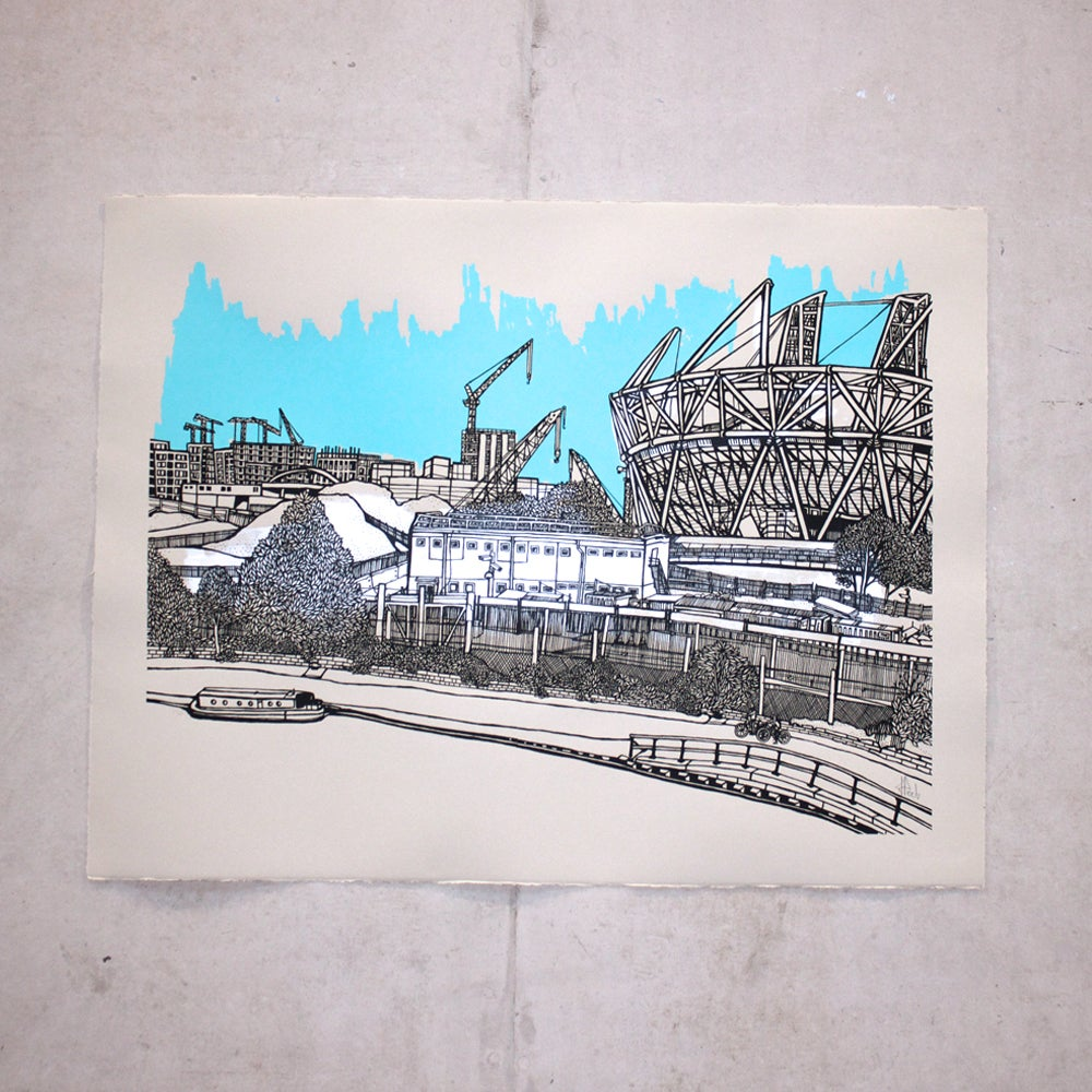 Image of Olympic Park, blue