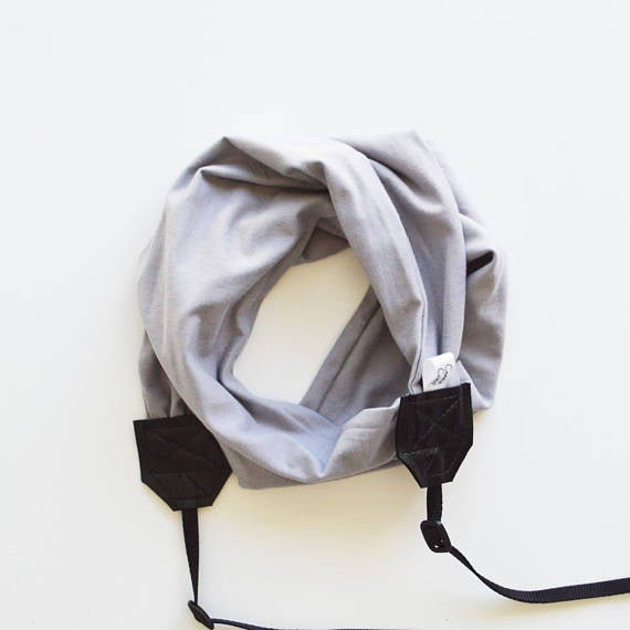 Image of Scarf Camera Straps Knit Stretch Comfortable Fit