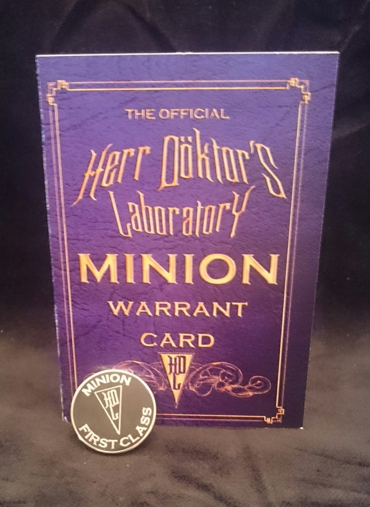 Image of Herr Döktor's OFFICIAL Minion Enamel Badge and Signed Warrant Card