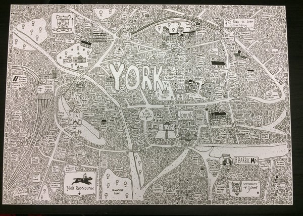 Image of York Doodle Map