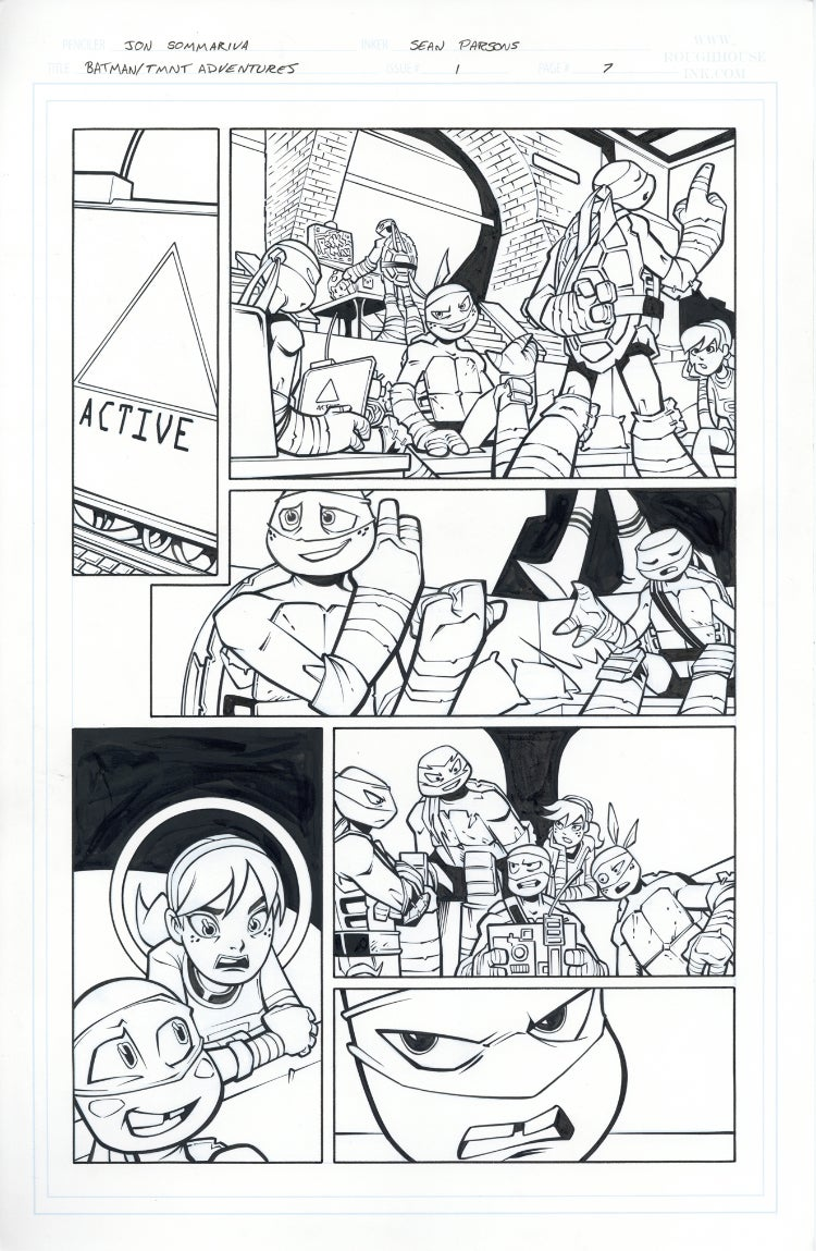 Image of Batman TMNT Adventures 1 Page 07