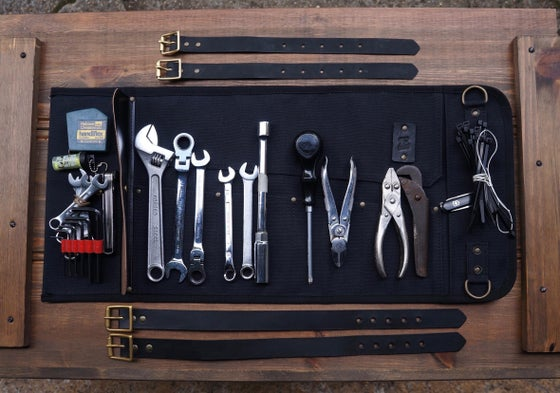 Image of CANVAS TOOL ROLL - RW WORKS