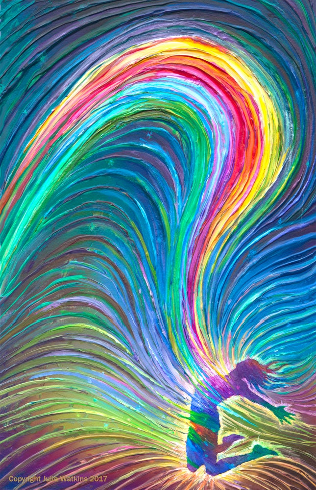 Image of Rainbow Woman Personal Empowerent Energy Painting - Giclee Print