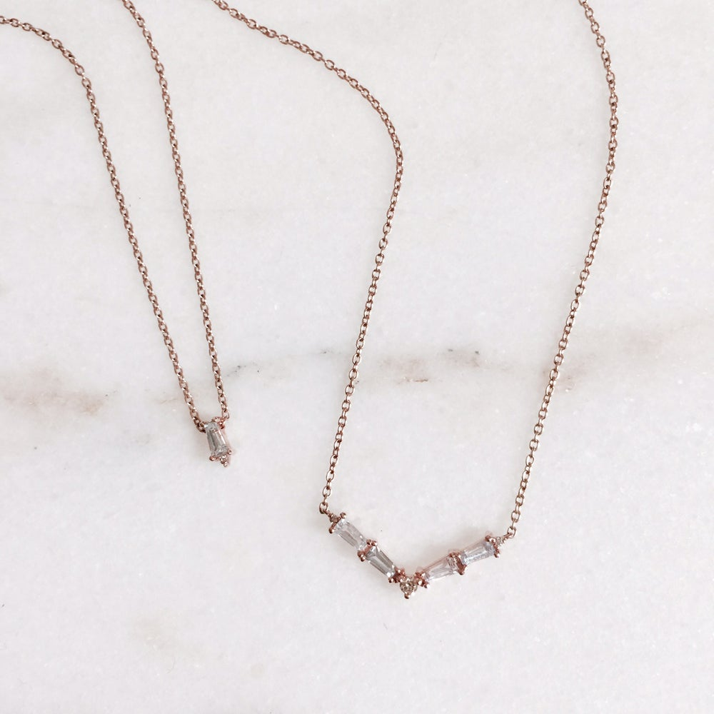 Image of Baguette Solitair Necklace