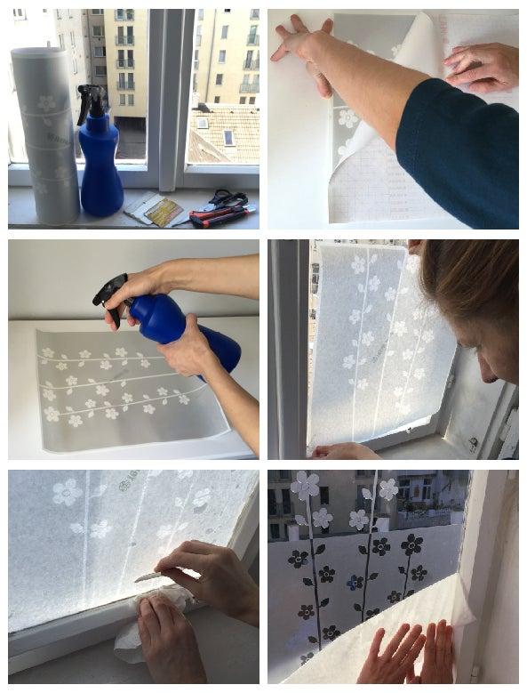 Image of Sichtschutz Klebefolie für Fenster Chevron Zickzack, Badezimmer Fensterfolie Schlafzimmer